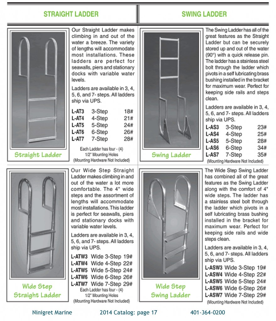 More aluminum ladders for marine use.