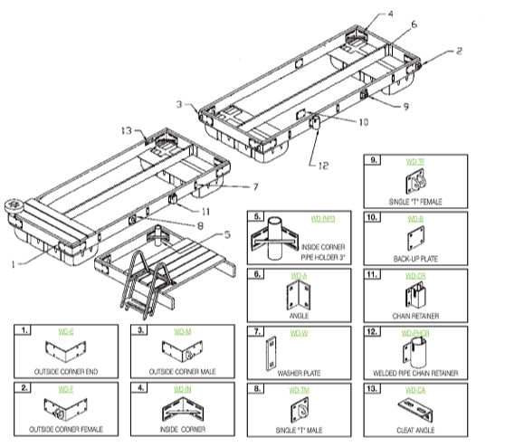 Heavy Duty Structural Dock Hardware